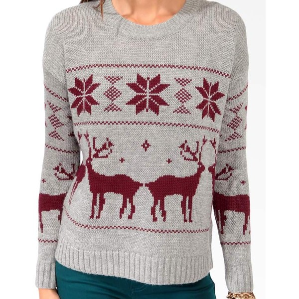 Forever 21 relaxed fair isle sweater