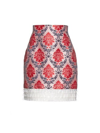 skirt jacquard red