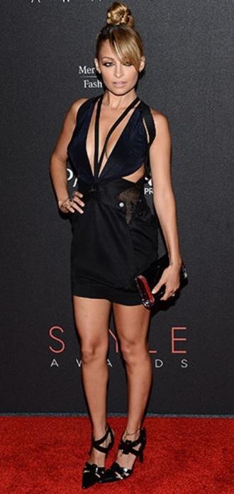 Nicole Richie Black Dress April 2017