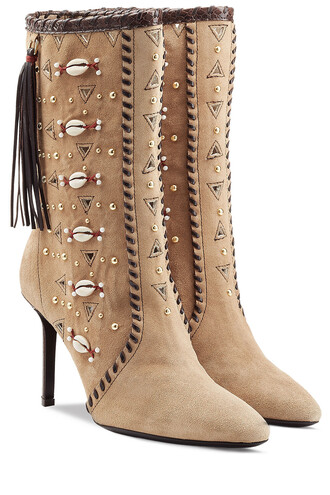 embellished boots suede boots suede camel shoes