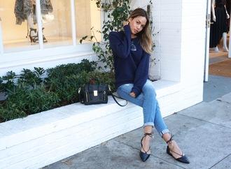 croptopia blogger jeans mini bag strappy flats