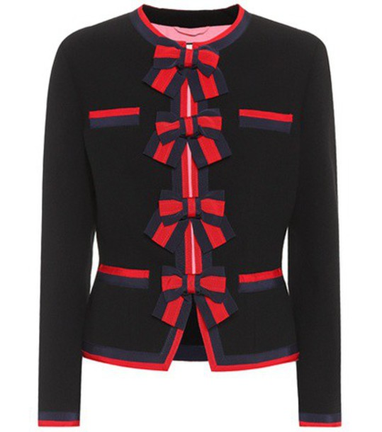 gucci jacket wool jacket wool black