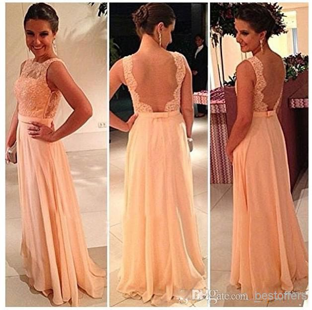 $59.99 Bridesmaid Dress with Lace Appliques Sheer Straps Bridesmaid Dress | Buy Wholesale On Line Direct from China