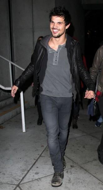 top jacket jeans taylor lautner menswear