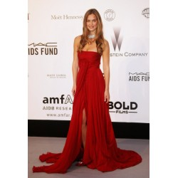 Bar Refaeli Red Strapless Celebrity Evening Dress 2007 Cannes Film Festival Red Carpet