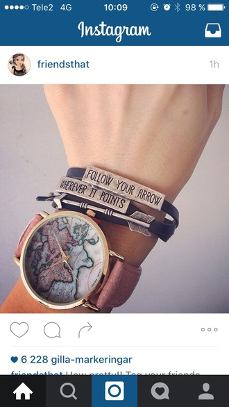 jewels bracelets arrow cute girly quote on it chic