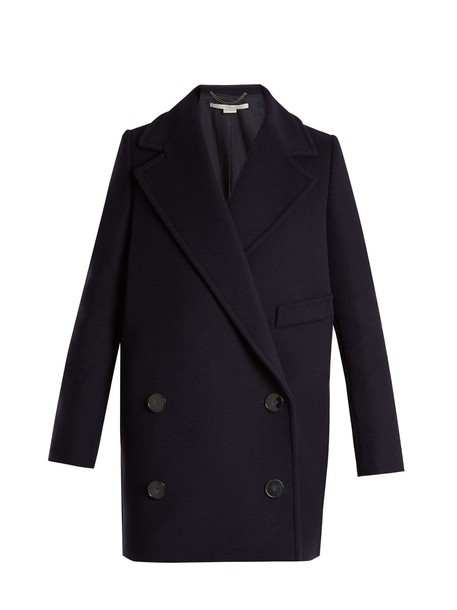 Stella McCartney coat wool navy