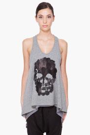 Barbara Bui Grey Skull Tank Top for women | SSENSE