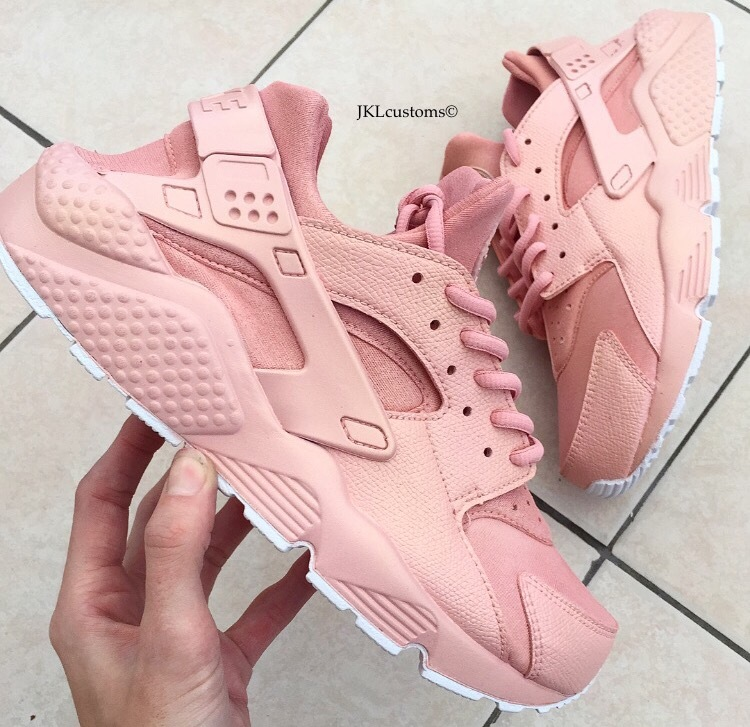 size 40 33292 27fb0 Rose-Gold Nike Huarache FULL custom