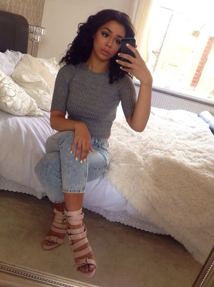 jeans casual shoes fall outfits high heels