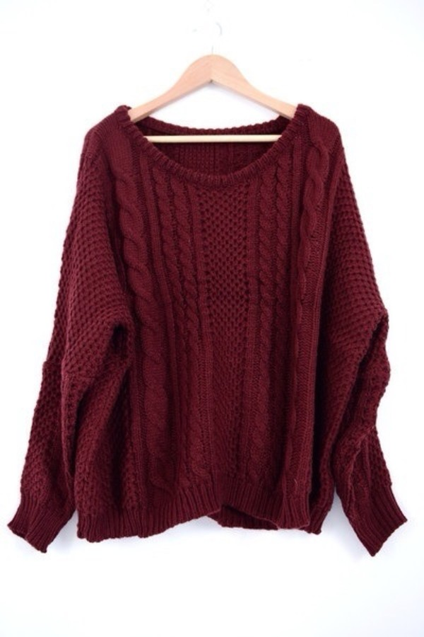sweater burgundy