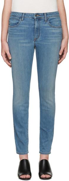 Helmut Lang jeans skinny jeans blue skinny jeans blue