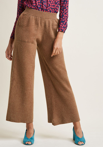 Compañia Fantastica pants chic knit neutral