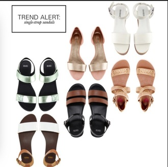 sandals single strap sandals shoes flats fashion trendy