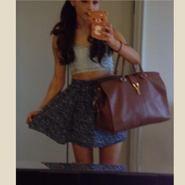 Small Cabas Y in Amber Leather - Small Cabas Y \u2013 Handbags ...