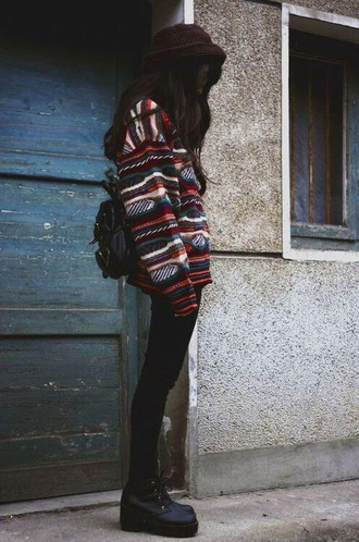 sweater oversized sweater vintage jumper tumblr outfit