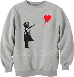Unisex Banksy Girl Gun Homies YSl Boy London Style Sweatshirt Jumper Top hoodie | eBay