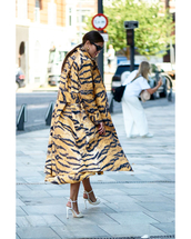 coat,animal print,high heel sandals,sunglasses,earrings,ring
