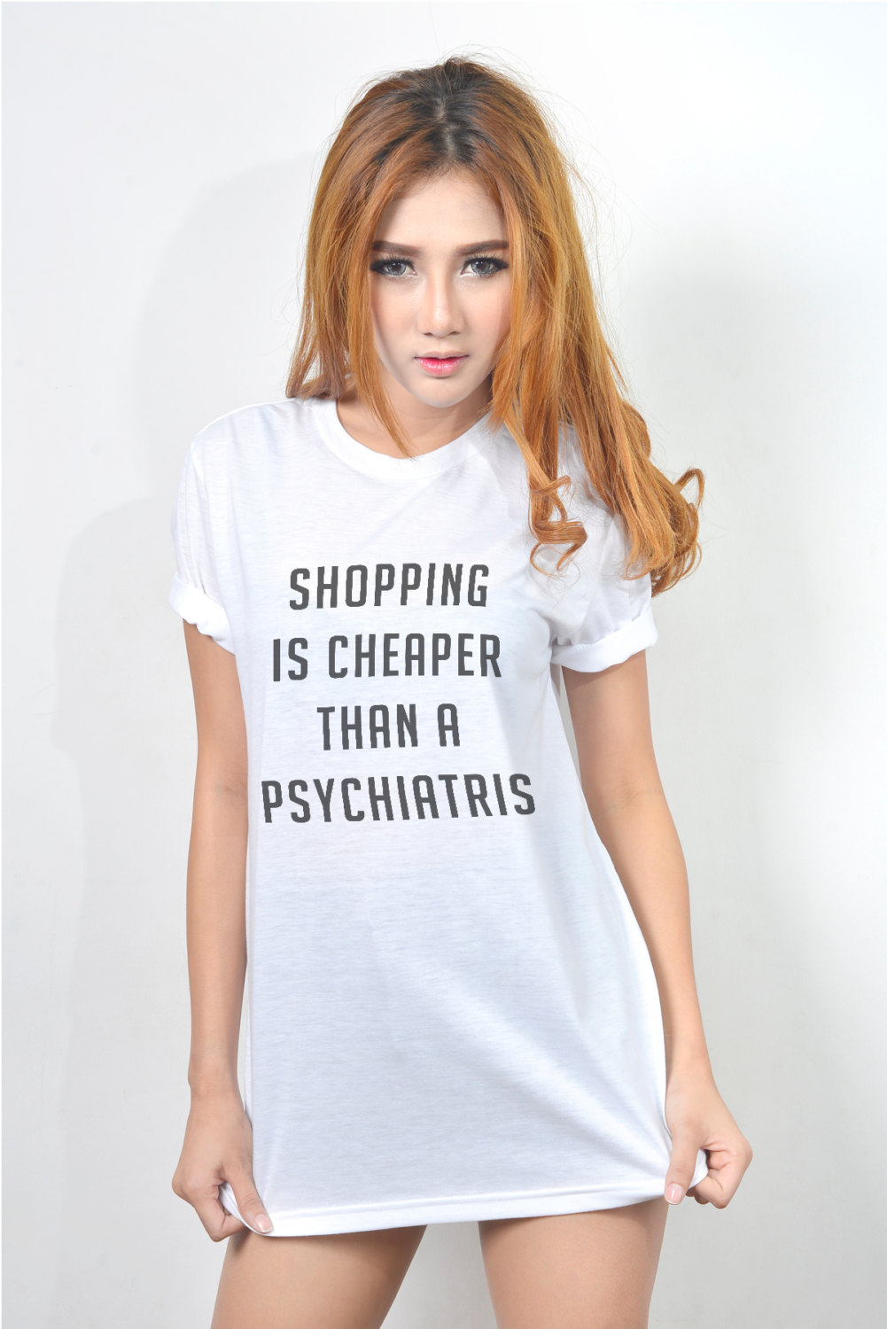 Shopping Is Cheaper Than A Psychiatris T Shirt Teen Women