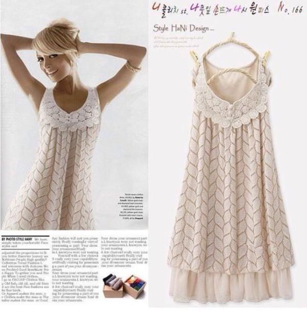 dress beige braided