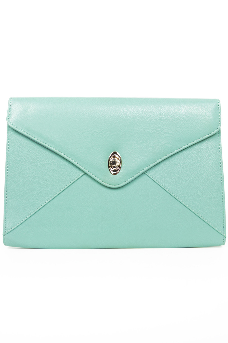 OVERSIZED CLUTCH - Mint | Haute & Rebellious