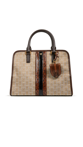 satchel snake jacquard new coffee bag