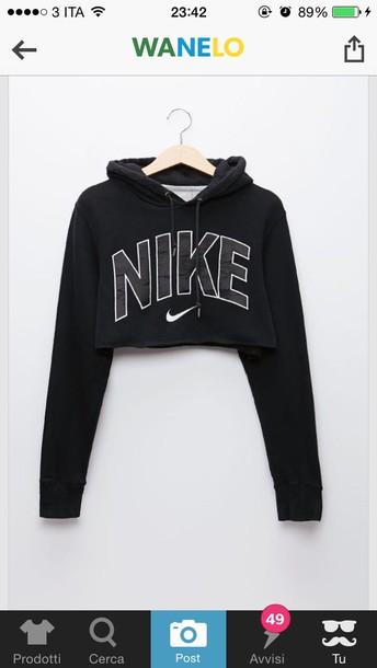 sweater nike crop nike black black sweater cropped sweater cropped hoodie nike sweater nike crop top black hoodie