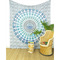 White elephant mandala tapestry wall hanging bedspread- queen/double   mandala tapestries   eyes of india
