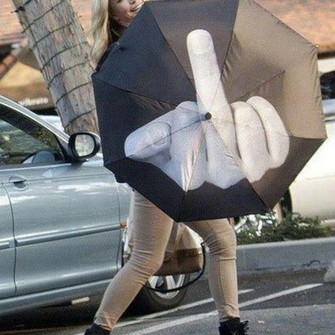 middle finger umbrella the middle