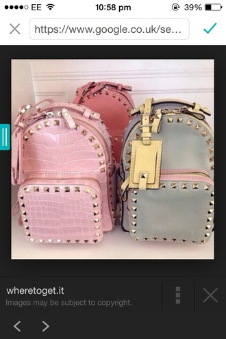 bag cute pastel backpack color