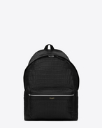 Saint Laurent Classic Hunting BACKPACK IN BLACK Crocodile Embossed Leather | ysl.com
