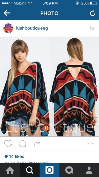 sweater poncho colorful winter outfits fall outfits tassel trendy