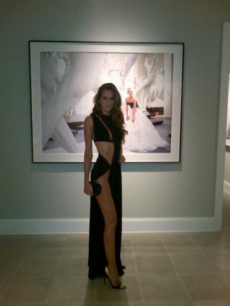 dress maxi dress slit