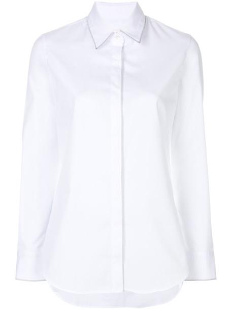 GOLDEN GOOSE DELUXE BRAND shirt women classic white cotton top