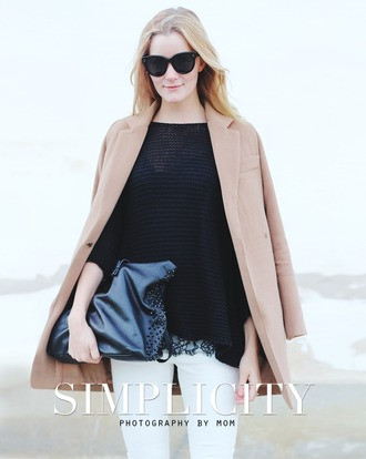 passions for fashion blogger coat sweater top jeans bag shoes sunglasses