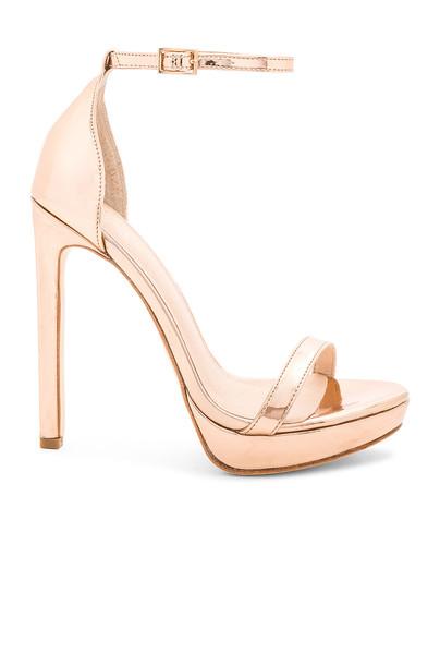 RAYE heel metallic copper shoes