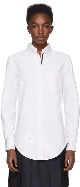 shirt collar shirt classic pink top