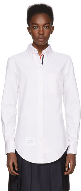 Thom Browne shirt collar shirt classic pink top