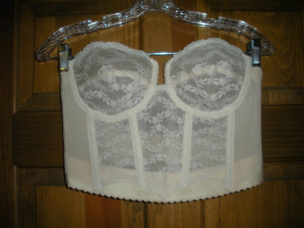 Strapless Longline Underwire Sheer Lace Bra Bustier 36 38B | eBay