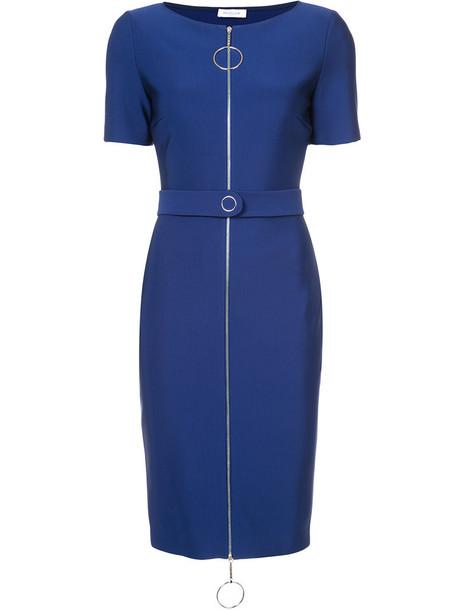 MUGLER dress women spandex blue