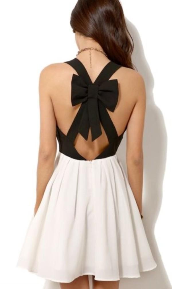 dress black white bow cross cross pleat ebonylace.storenvy ebonylace.storenvy ebonylace-streetfashion ebonylace247