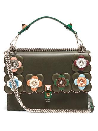 embellished bag shoulder bag leather green