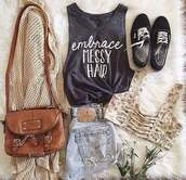 bag,tank top,bra,bralette,top,grey,outfit,crop,fall outfits,style,floral,grey t-shirt,crop tops