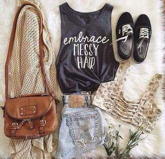 bag tank top bra bralette top grey outfit crop fall outfits style floral grey t-shirt crop tops shirt grey tank top tumblr outfit tumblr tumblr girl