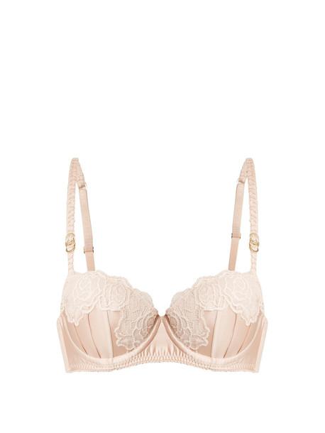 bra lace pink underwear