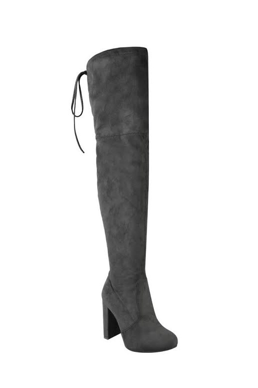 Suede Over The Knee Boots - from The Fashion Bible UK