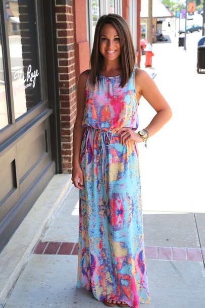 dress multicolor southern outfit