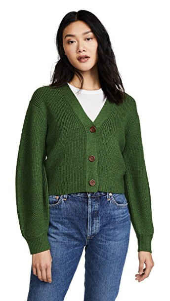 SEA sweater bell sleeve sweater cropped green