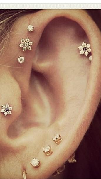 jewels earrings ear piercings gold earrings piercing piercing