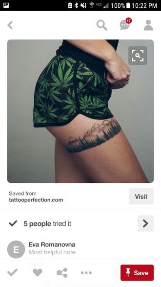 shorts black print weed shorts weed printed shorts marijuana shorts